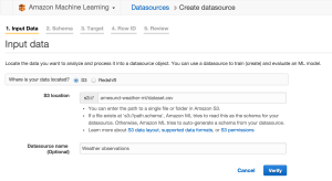 Create datasource